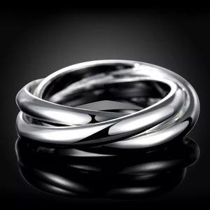 3 for $12 Silver Triple Band Fidget Ring Sz 7